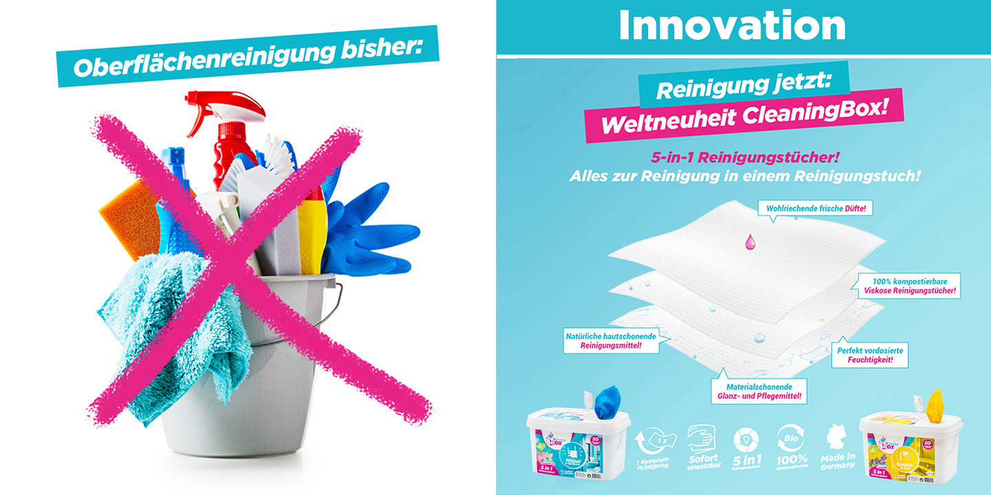 Weltneuheit CleaningBox!