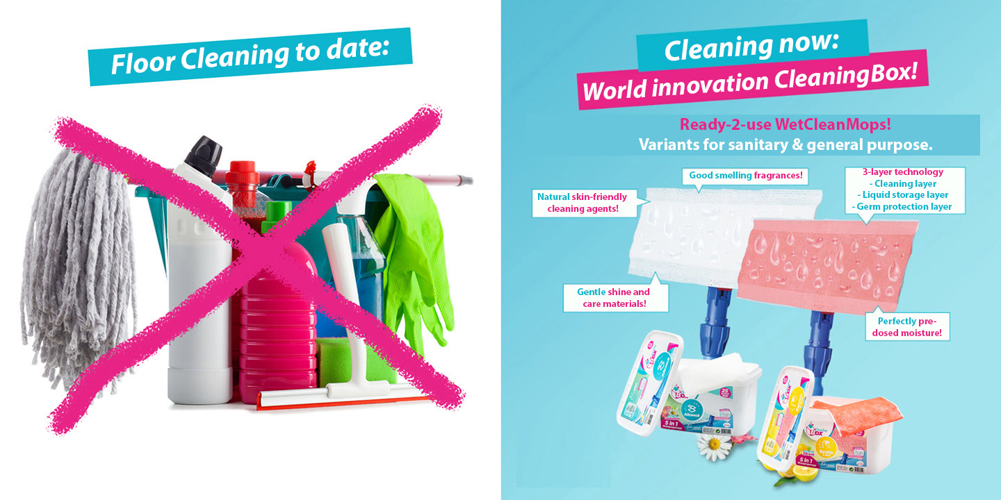 Cleanovation Ready-2-use WetCleanMops!
